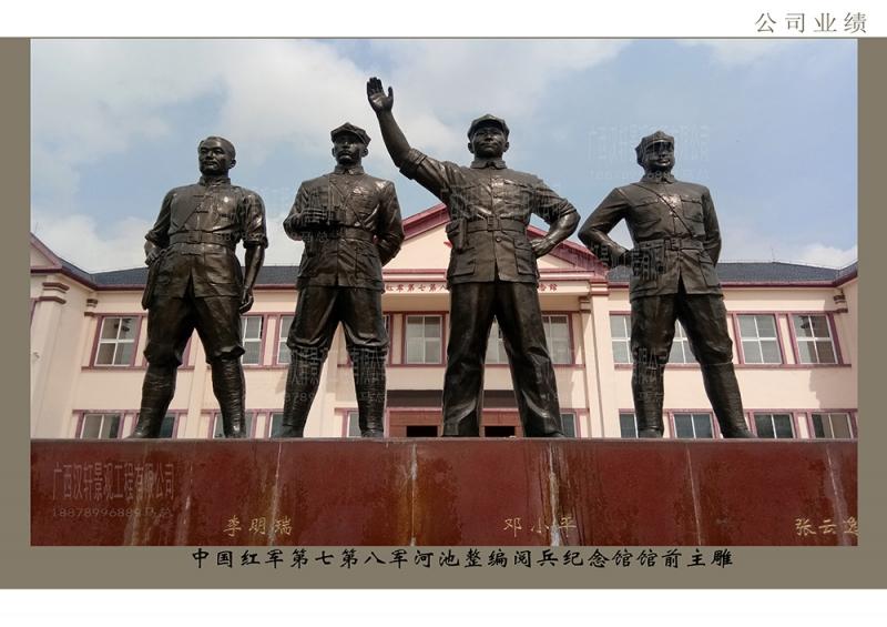 中国红军第七第八军河池整编阅兵纪念馆馆前主雕