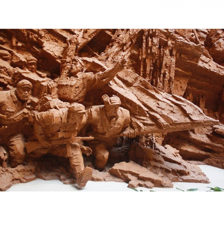 红色革命雕塑